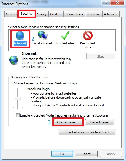 cách mở ActiveX trong ie